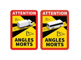 Autocollants Angles Morts VL ( PL et Bus )