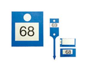 Étiquette porte-clés numérotée