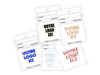 Étiquette porte-clés standard ou personnalisée JPG