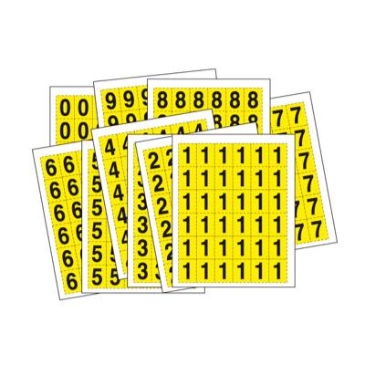 Étiquettes prédécoupées casier