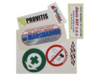 autocollant vinyle personnalisable