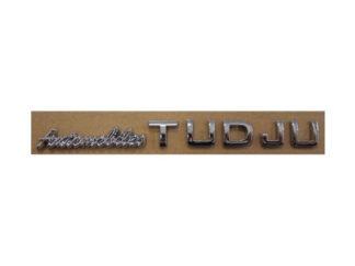 Lettre adhésive chromée 3D