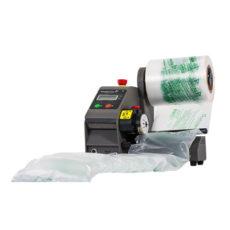 Machine de calage et protection en coussin d air
