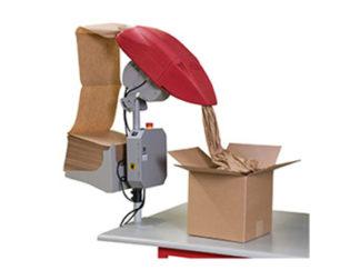 Machine de calage et protection en papier