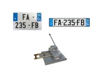 Plaques d'immatriculation aluminium F 2.0