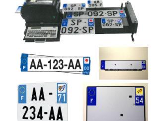 Plaques d'immatriculation aluminium F