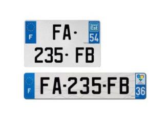 Plaques d'immatriculation plexiglass F 2.0