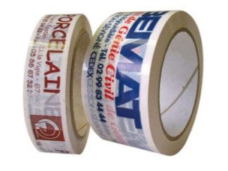 Ruban adhésif en PP acrylique neutre ou imprimé