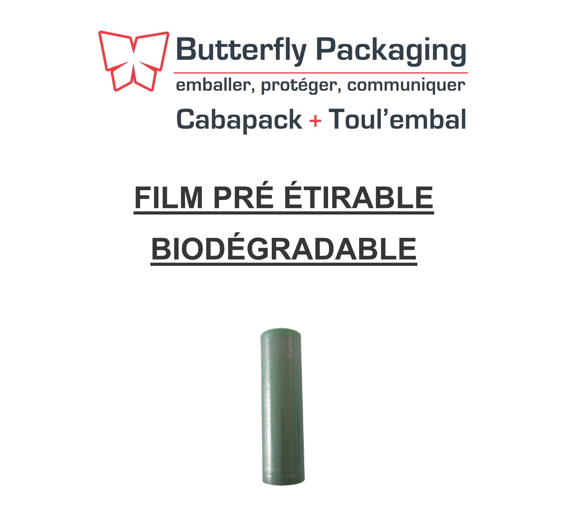 Le saviez-vous ? Une solution économique et écologique : le film pré-étirable biodégradable.