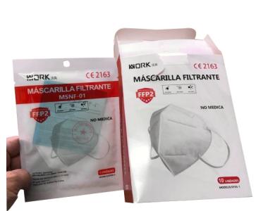 Masque FFP2 emballage