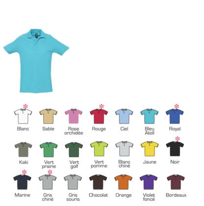 Polo personnalisable 210g couleurs