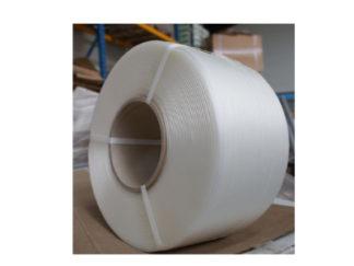 Feuillard polyester textile renforcé