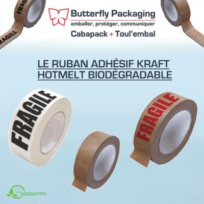 Notre guide produit : Ruban adhésif kraft hotmelt biodégradable